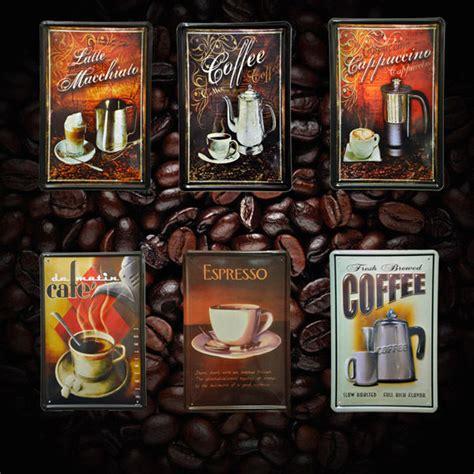 Coffee Metal sign bar Tin Art wall home cafe Saloon Starbucks Decor Coffee   eBay