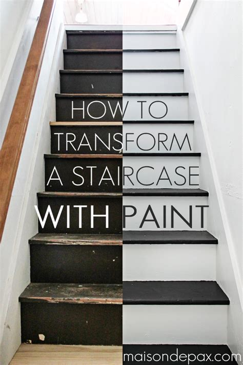 how to paint stairs the easy way maison de pax