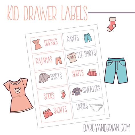 printable drawer labels printable labels for organizing kids clothes plus tips