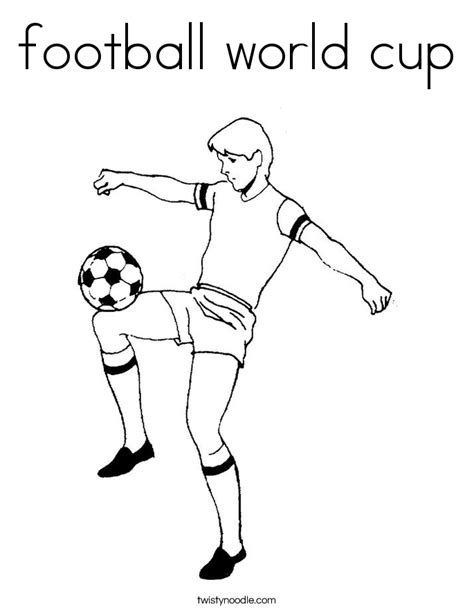 Football World Cup Coloring Page Twisty Noodle World Cup Coloring Pages