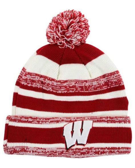 wisconsin badgers knit hat new era wisconsin badgers sport knit hat in for