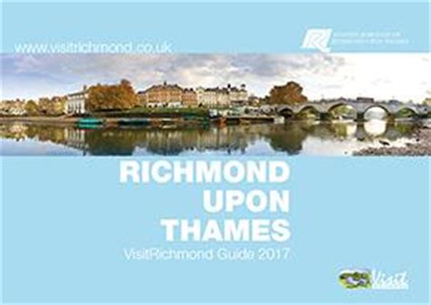 map of river thames richmond guides and maps for richmond upon thames