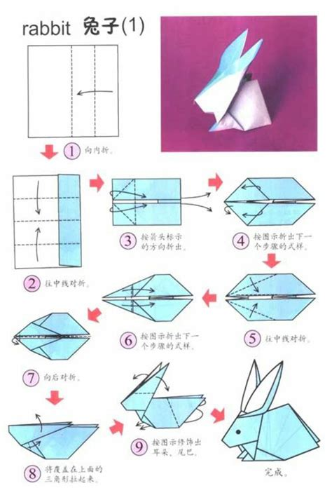 Origami Bunnies - origami rabbit folds and inspiring easter