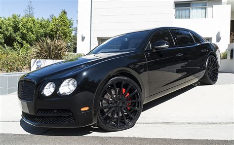 bentley blacked out spotlight murdered out bentley flying spur