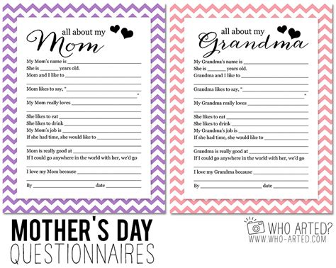 mother s day questionnaire