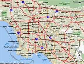 show map of southern california l a county powder coating customcoaters