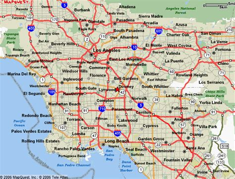map of los angeles area l a county powder coating customcoaters