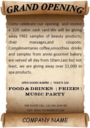 20 Grand Opening Flyer Templates Free Demplates Grand Opening Flyer Template Free