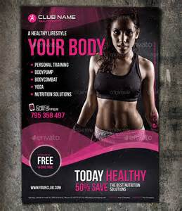 fit body fitness psd flyer template designingbucket