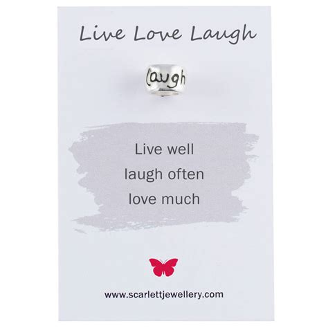 live laugh love origin live love laugh solid silver mojo charm by scarlett
