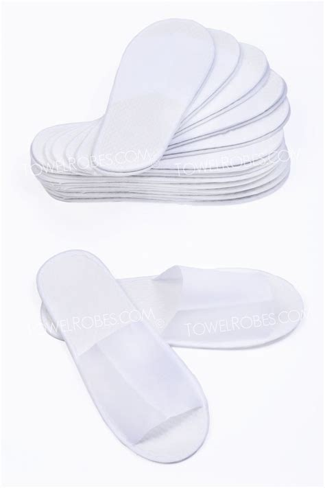 disposable spa slippers disposable open toe spa slippers white dozen pairs