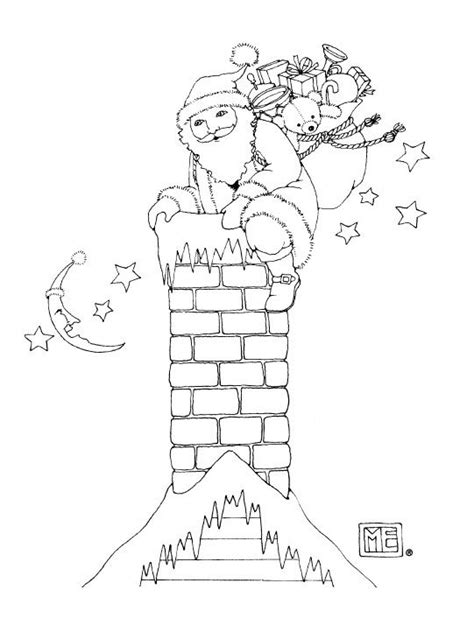 santa what a bag free coloring page from mary engelbreit