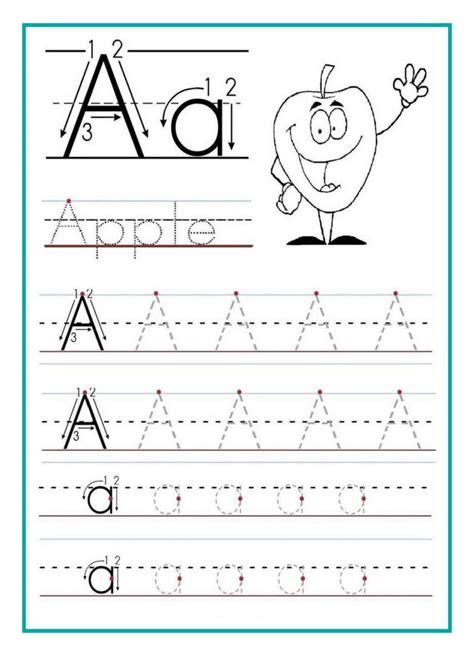 kindergarten alphabet tracing worksheets pdf kidz activities