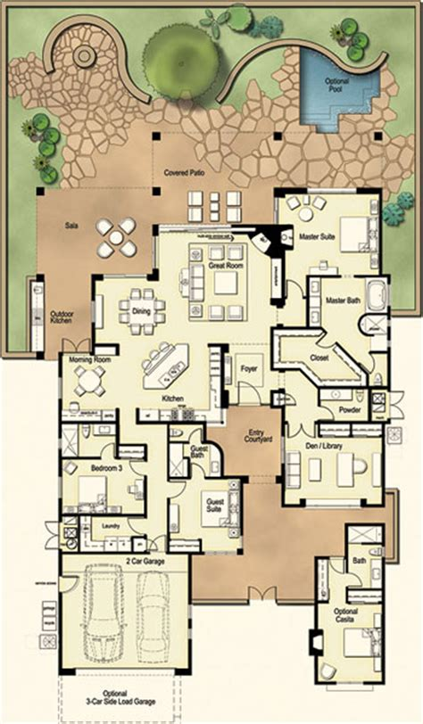 Residences At The Ritz Carlton Tucson Floor Plan Ranch House Model | residences at the ritz carlton tucson floor plan ranch