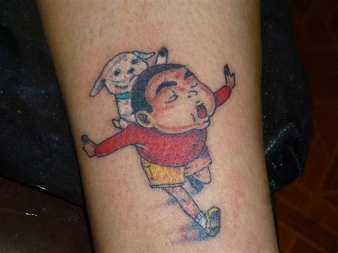 crayon tattoo crayon shin chan on arm