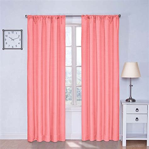 coral curtains drapes eclipse kids kendall blackout window curtain panel 42 by