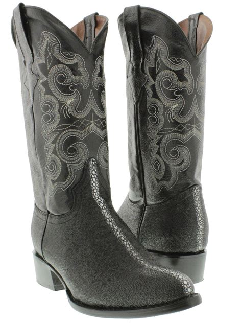 mens stingray cowboy boots mens black stingray row leather western