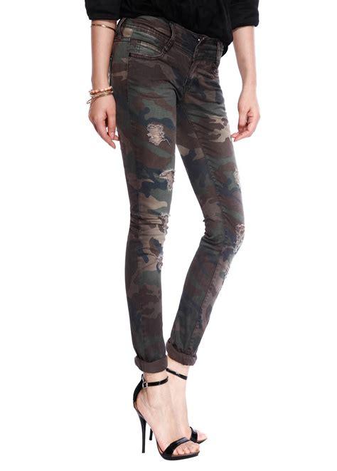 camo pattern skinny jeans womens camo military army skinny jeans girls slim ripped