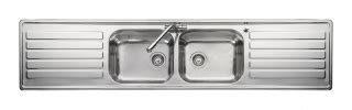 leisure kitchen sink spares leisure luxe lx84 2 0 bowl stainless steel inset kitchen sink kitchen sink