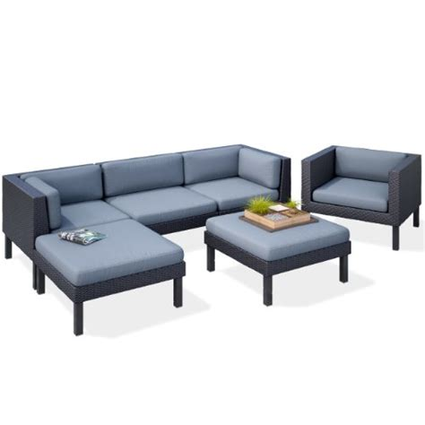 sofa and chaise set corliving ppo 805 z oakland 6 piece sofa with chaise