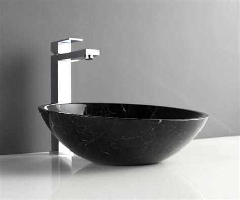apollo black marquine natural stone basin modern