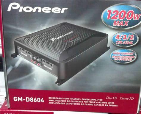 Power Lifier 4 Channel Pioneer Gm 8604 pioneer gm d8604 class fd 4 channel 1200 w bridgeable