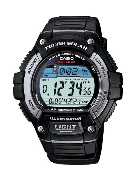 casio mens classic blacktough solar digital