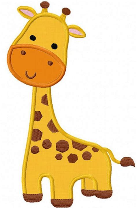 giraffe applique instant giraffe applique machine embroidery design