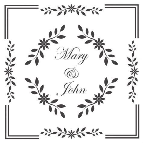 Wedding Invitation Frame by Vintage Wedding Invitation Frame Vector Free
