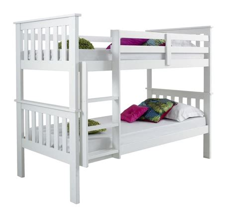 Ebay Bunk Beds With Mattresses Contemporary Solid White Bunk Bed Set 2 Mattresses Ebay