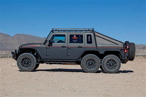jeep hellcat custom hell hog hellcat powered 2012 jeep wrangler unlimited 6x6