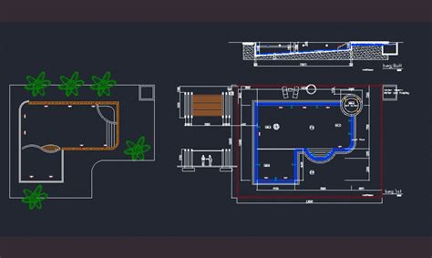 swimming pool dwg block  autocad designs cad