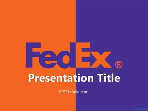template for powerpoint presentation free free fedex with logo ppt template