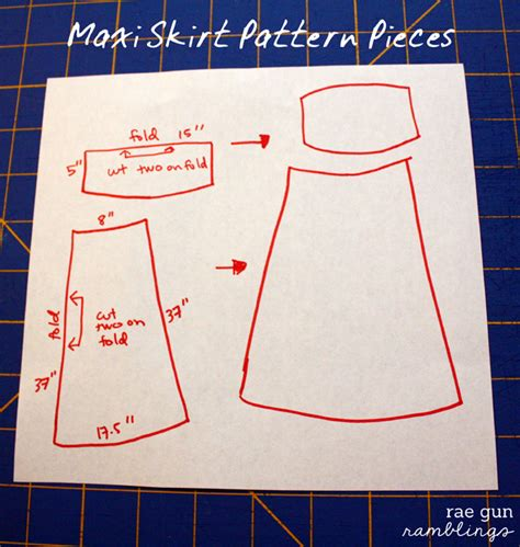 summer trend easy maxi skirt tutorial gun ramblings