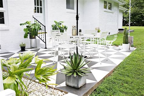 pintar pisos renovar los pisos de un patio con pintura estilos deco