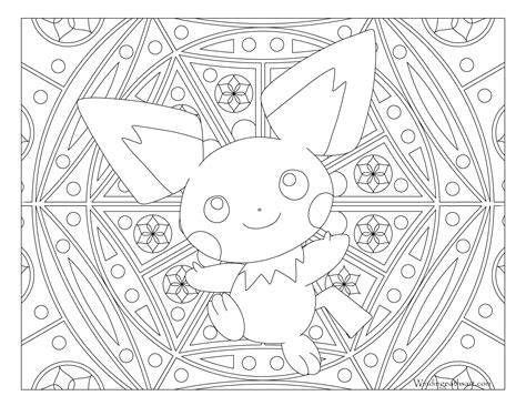 Pichu Coloring Pages