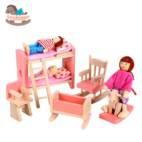 bedroom toys arshiner wooden dolls house furniture miniature children