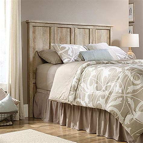 sauder headboard queen sauder cannery bridge lintel oak full queen headboard