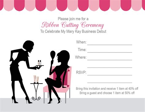 mary kay party invitations mixed with exquisite
