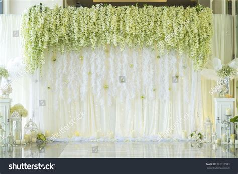 Wedding Background Decorations by Wedding Backdrop Flower Decoration Stock Photo 361318943