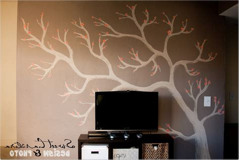 home decor tree wall painting diy room decor bedroom ideas for toilet cabinet