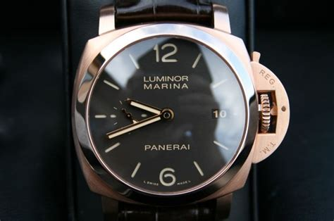 Replika Panerai Luminor Marina Pam 393 Gold fs 18k gold panerai pam 393 luminor marina 1950 pam393 42 mm 3 day reserve rolex forums