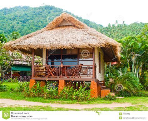 hutte tropicale hutte de vacances photographie stock image 20907112