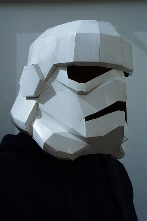 cardboard mask template geometric paper mask