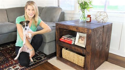 7 Easy Diy Projects For by The Rustic Side Table Easy Diy Project