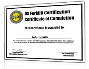 Free Aerial Lift Certification Card Template by Forklift Certification 38 Earn A Fork Lift Operator S