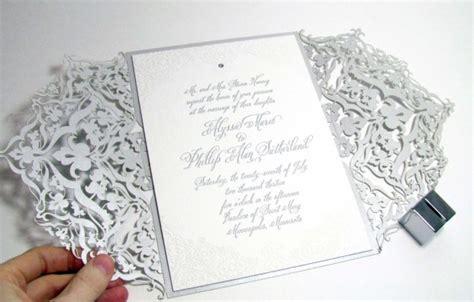 laser cut wedding invitation designs laser cut wedding invitations weddings illustrated