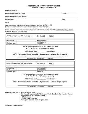 printable tb questionnaire ppd skin test form pdf pictures to pin on pinterest