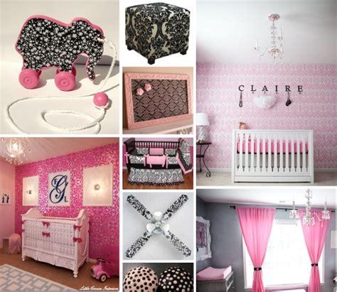 pink and black nursery decor pink and black nursery decor black and white damask crib