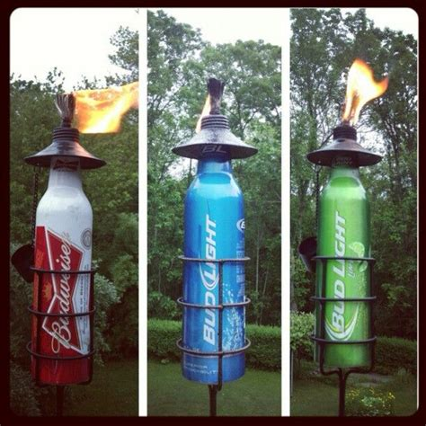 homemade tiki torches   home tiki torches beer